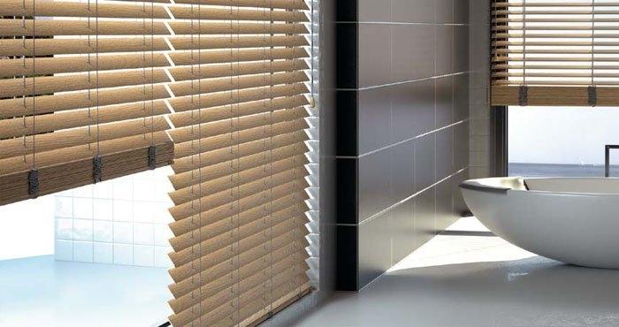 Estores laminados de madeira estores interiores controsol - Tipos de estores para salon ...